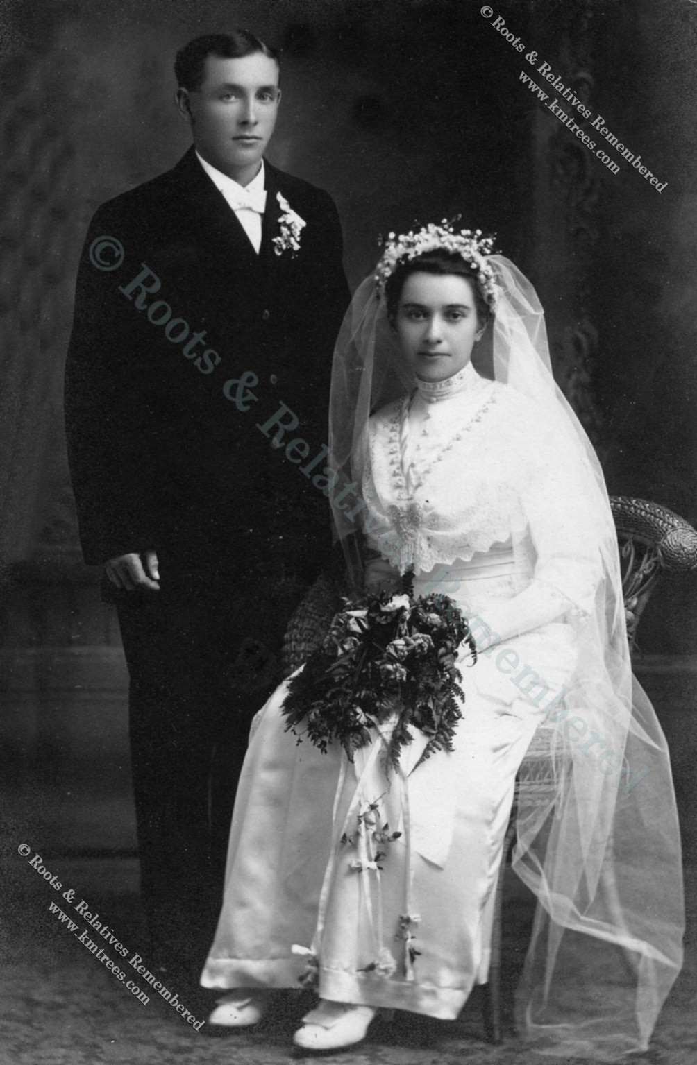 1913 Wedding--Charles Wiltscheck & Rose Hillesheim