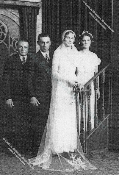 1933 Ethelbert James Schleif & Genevieve Konz Wedding