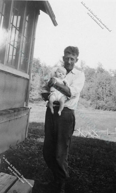 1934 Rocky Holmgren, Fred Murray II at lake cabin